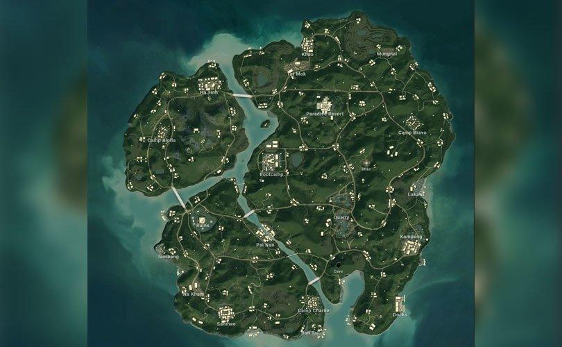اسماء مناطق لعبة ببجي