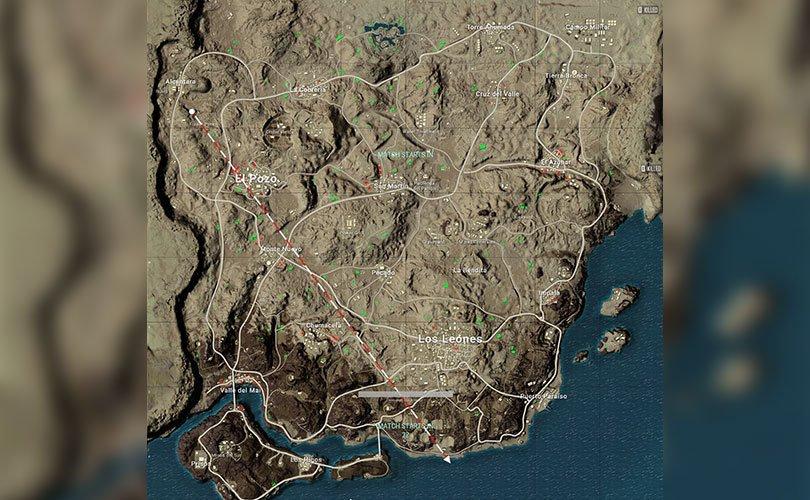 خريطة ميرامار ببجي الاطلال