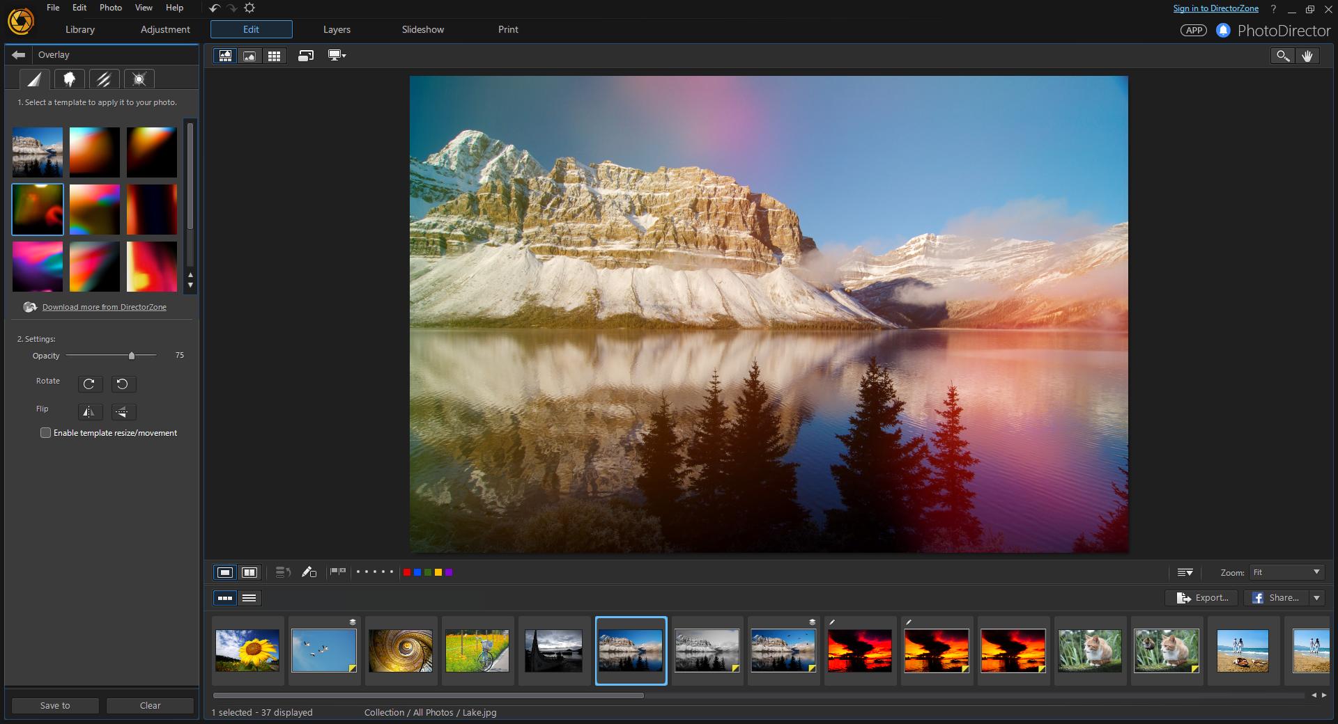 تحميل برنامج PhotoDirector فوتو دايركتور img3File.png