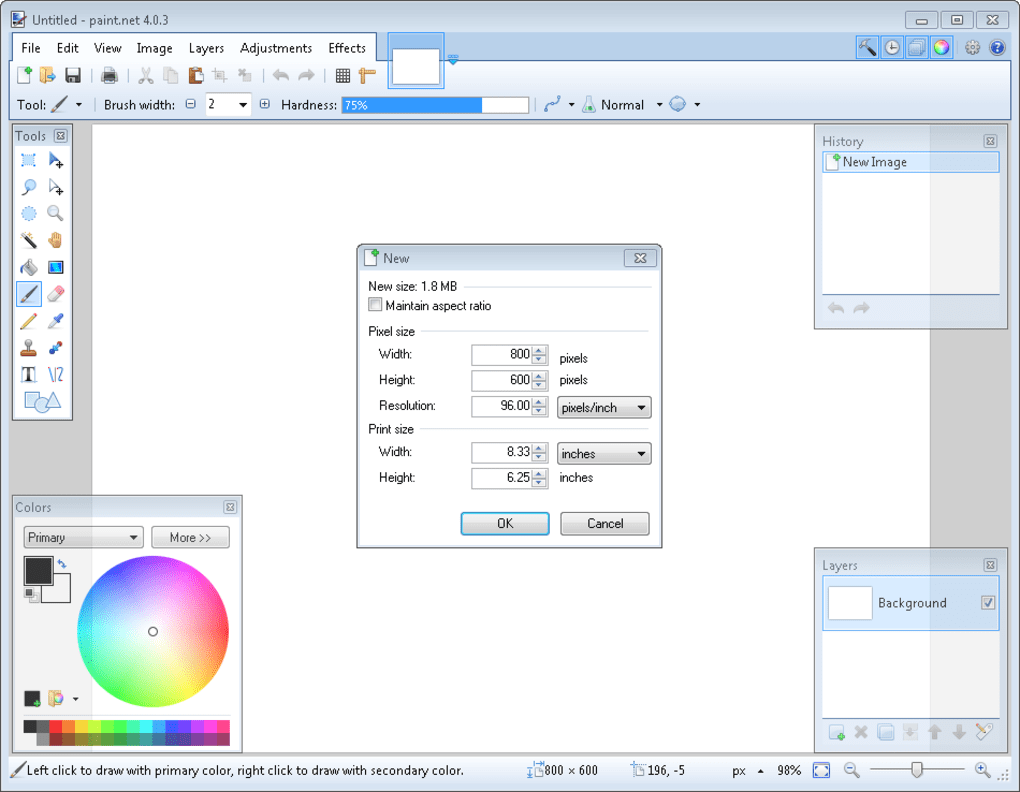 تحميل برنامج Paint NET برابط مباشر برنامج الرسام مع التعريب paint-net-screenshot