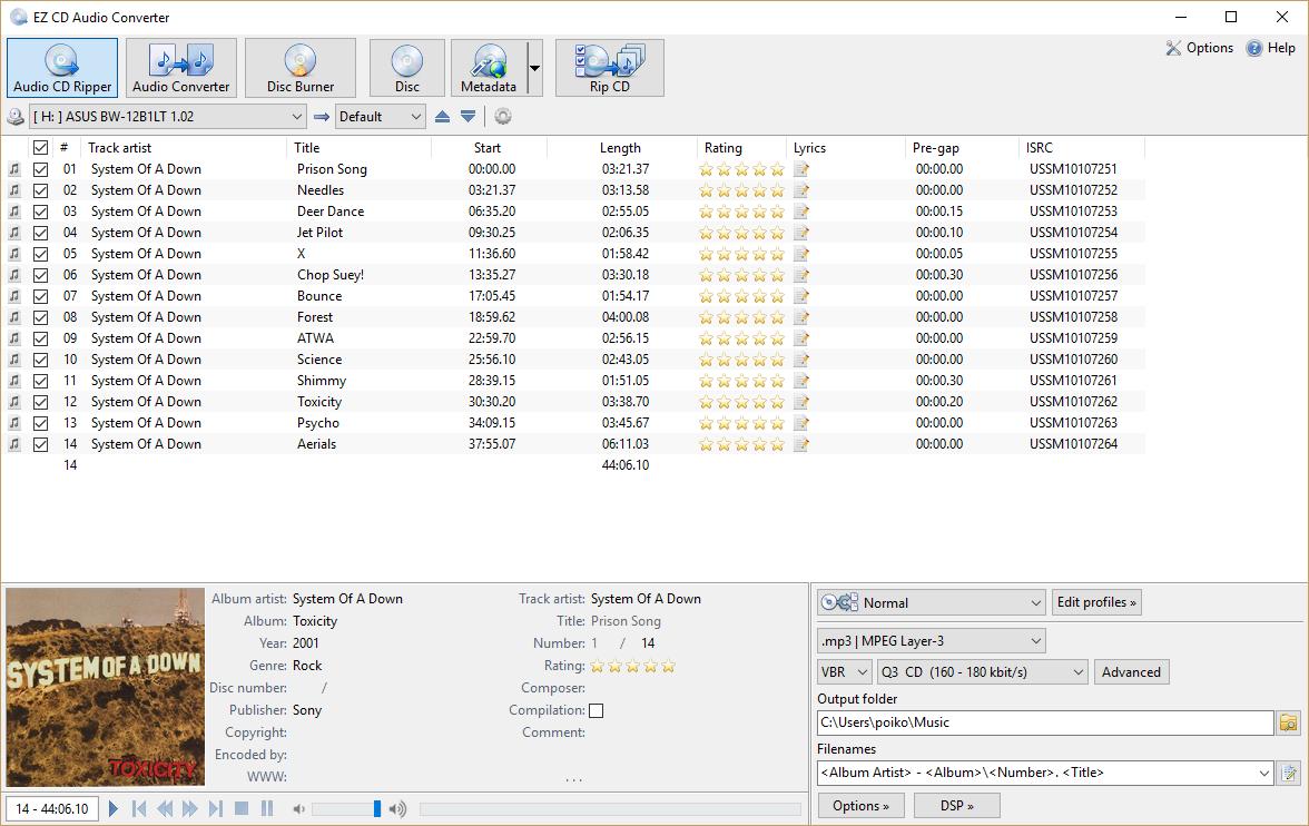 تنزيل برنامج EZ CD Audio Converter إي زد سي دي اوديو كونفيرتور برابط مباشر scrshot_1.png