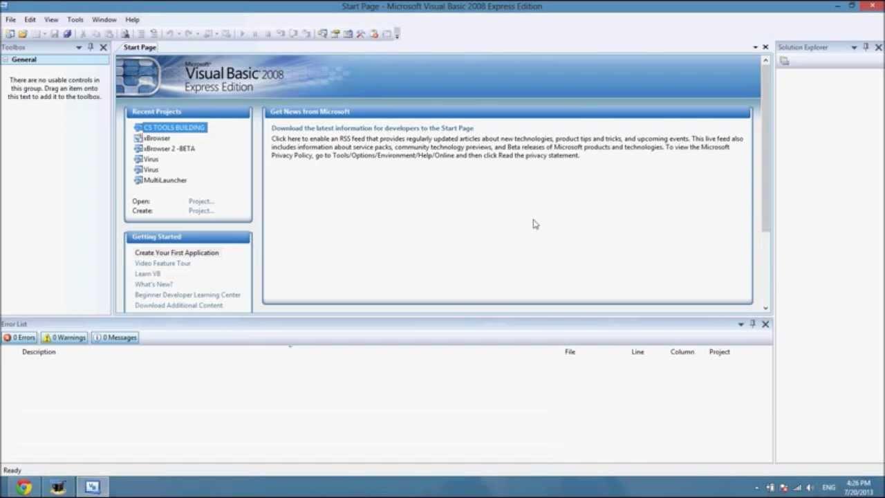 تحميل برنامج فيجوال بيسك 2010 كامل مضغوط